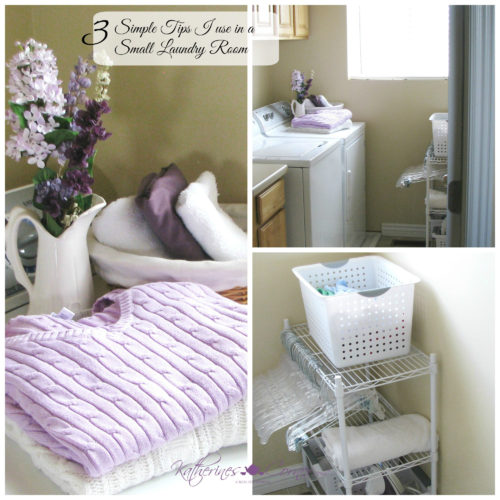 3 simple tips I use in a small laundry room