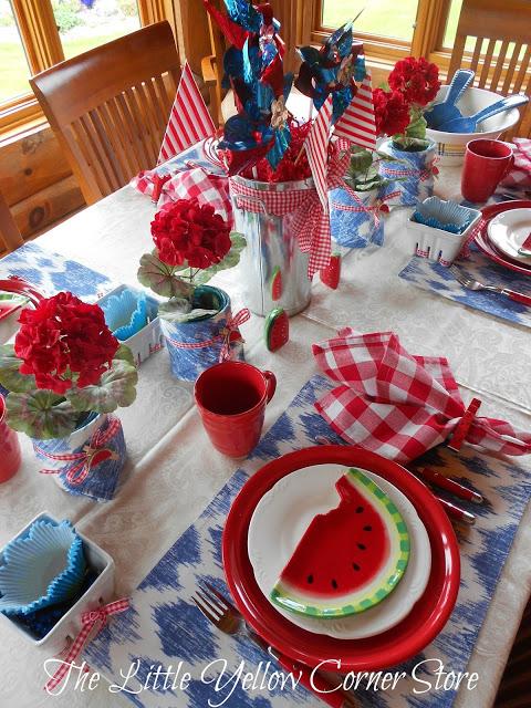 watermelon tablescape