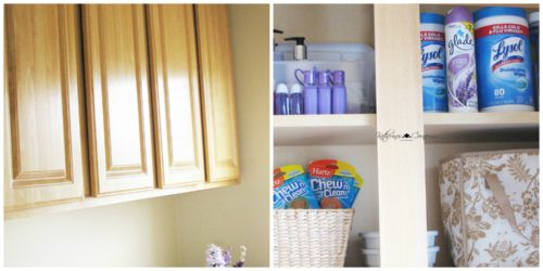 inside laundry room cupboards