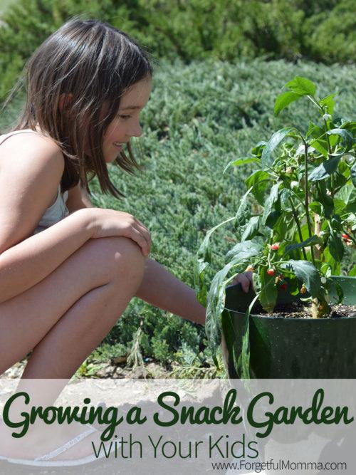 teaching children to grow a snack garden