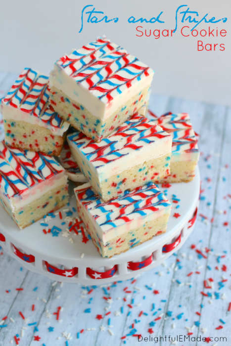 stars and stripes cookie bars