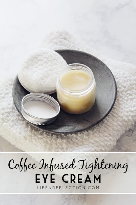 diy coffee infused eye cream