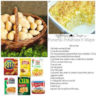 Funeral Potatoes Six Ways