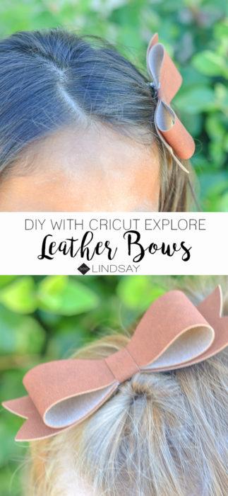 diy leather bow