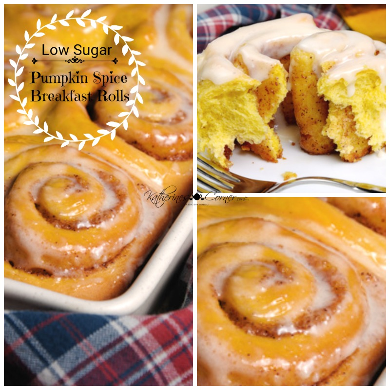 Low Sugar Pumpkin Spice Breakfast Rolls