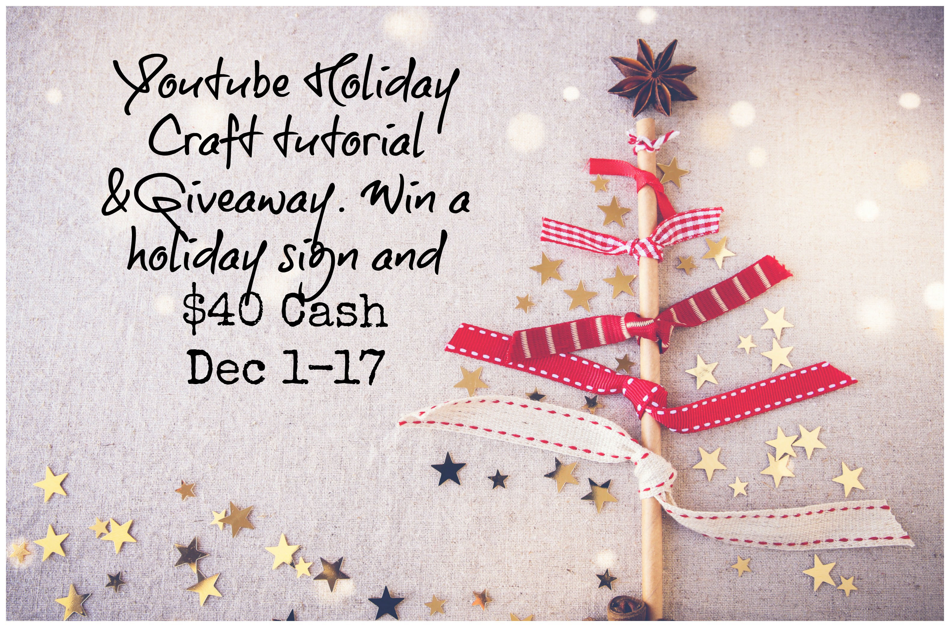 YouTube Giveaway & Craft Tutorial