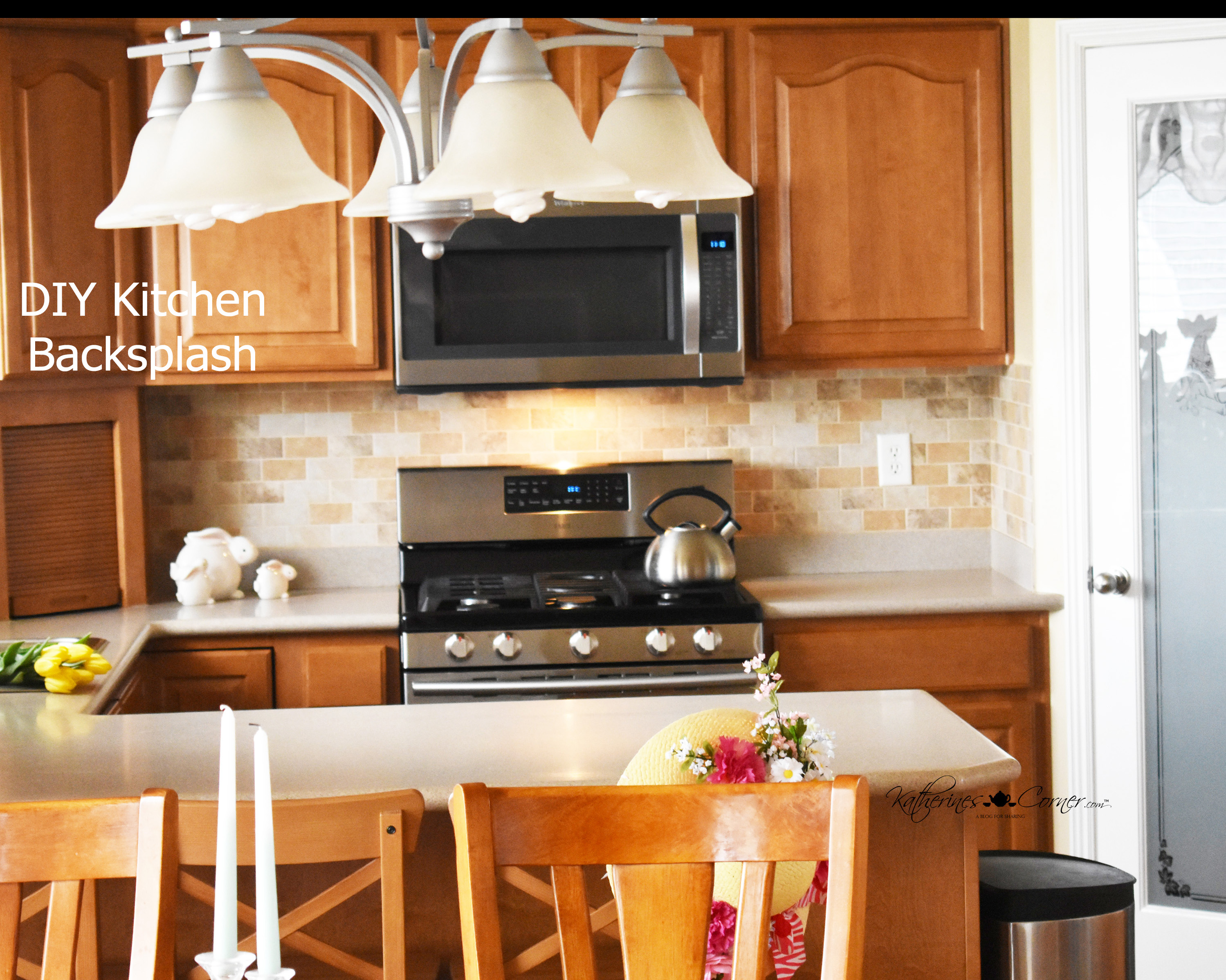 DIY Kitchen Backsplash