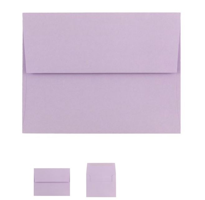 purple envelopes