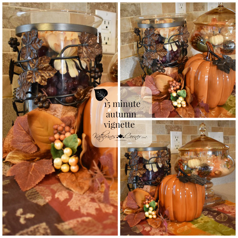 DIY 15 Minute Autumn Vignette