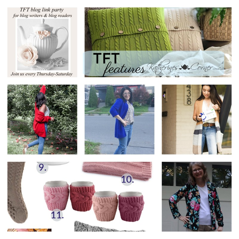 Cardigan Sweater Cardi TFT Blog Link Party