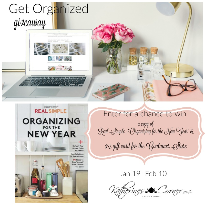 Get Organized Giveaway 2019