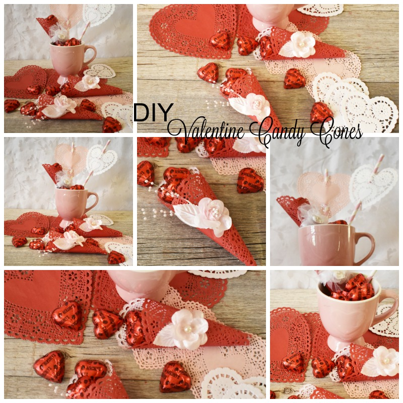 DIY Valentine Candy Cones