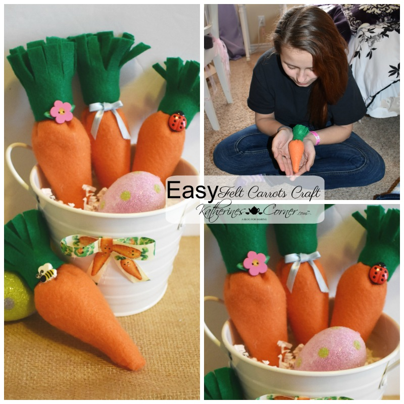 Easy Felt Carrots Craft