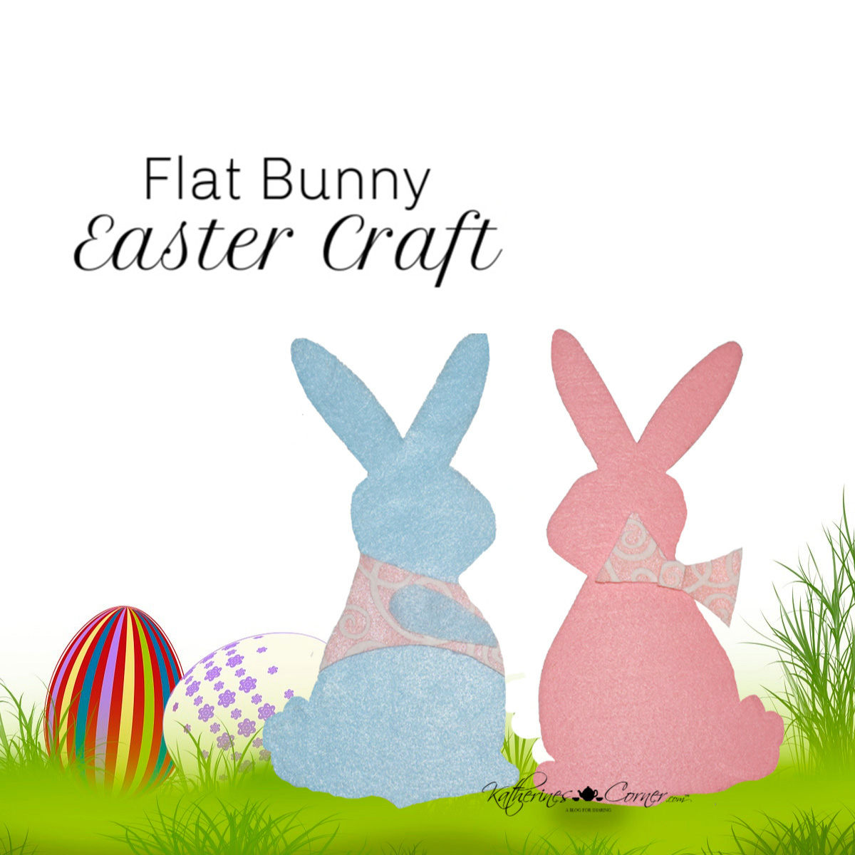 Flat Bunny Easter Craft