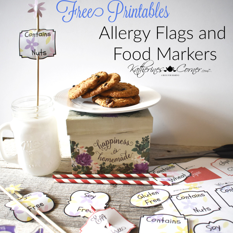 Allergy Food Flag Labels Free Printables