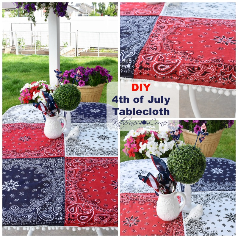 DIY 4th of July Tablecloth