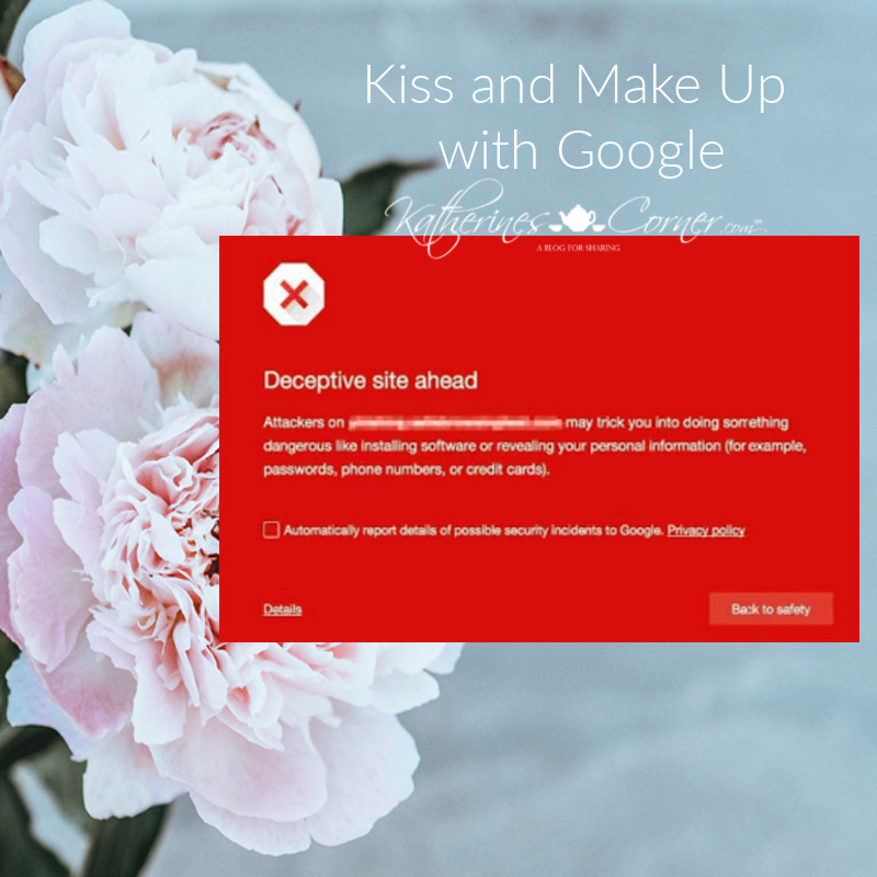 Kiss and Make Up with Google