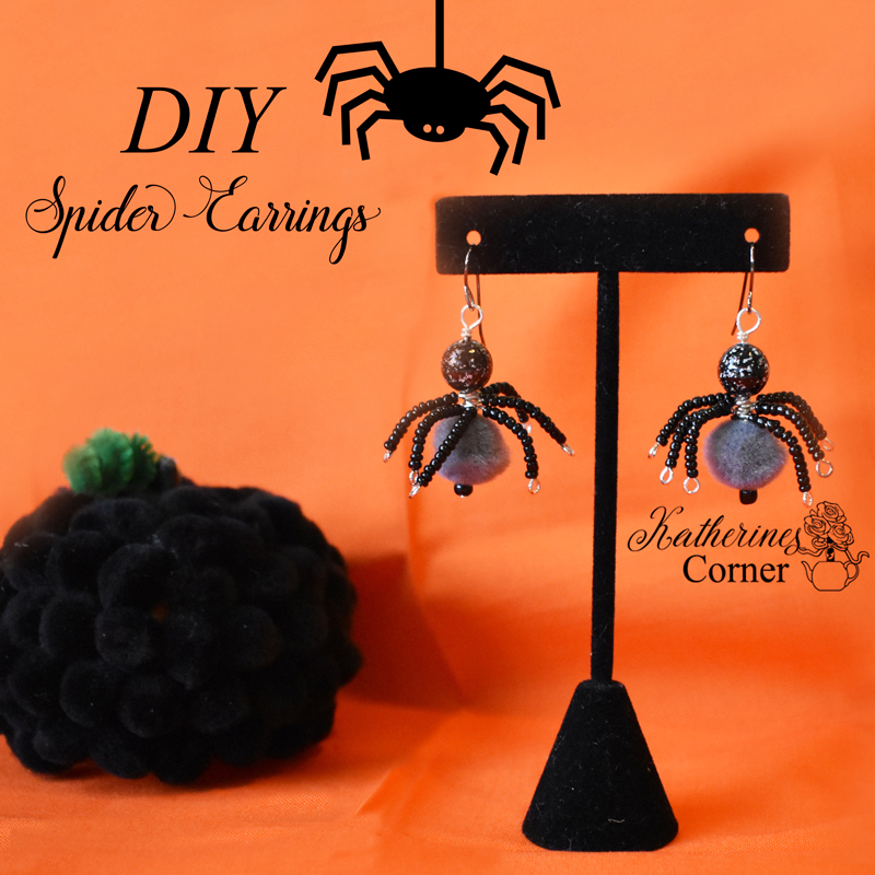 DIY Spider Earrings