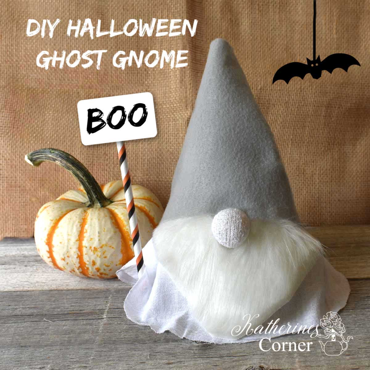 DIY Halloween Ghost Gnome