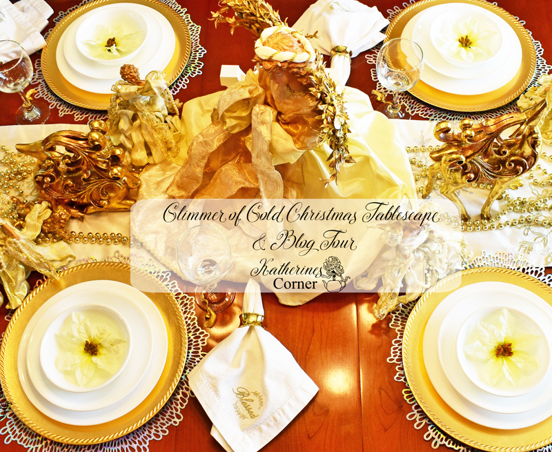 Glimmer of Gold Christmas Tablescape