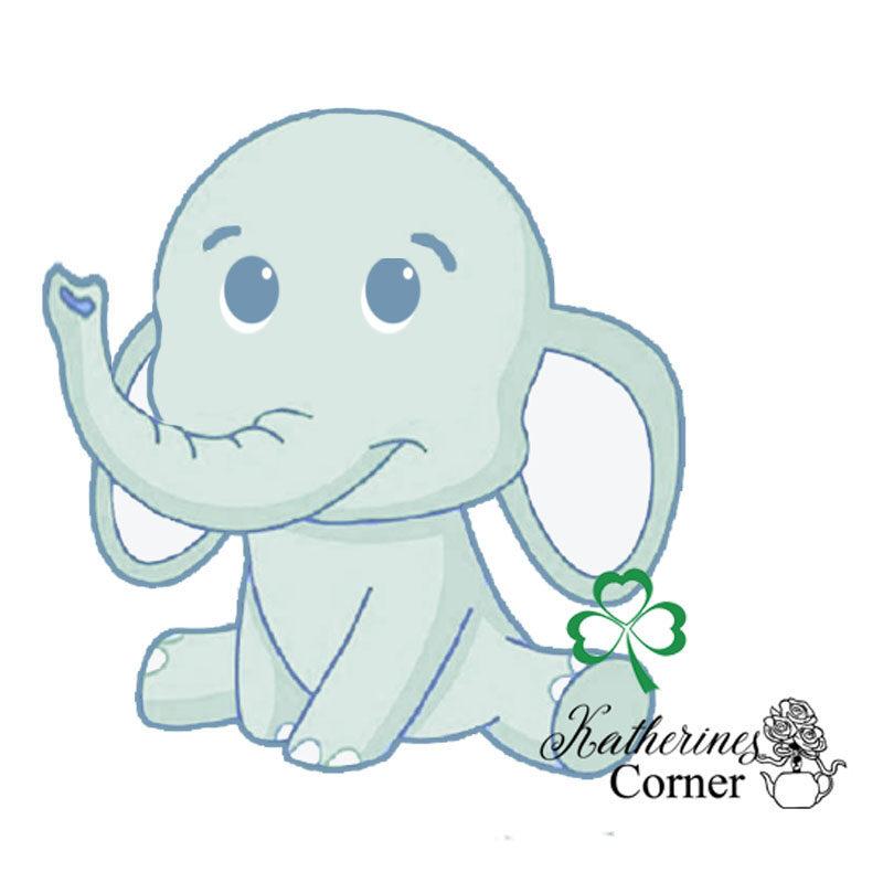 elephant and shamrock illustration katherines corner