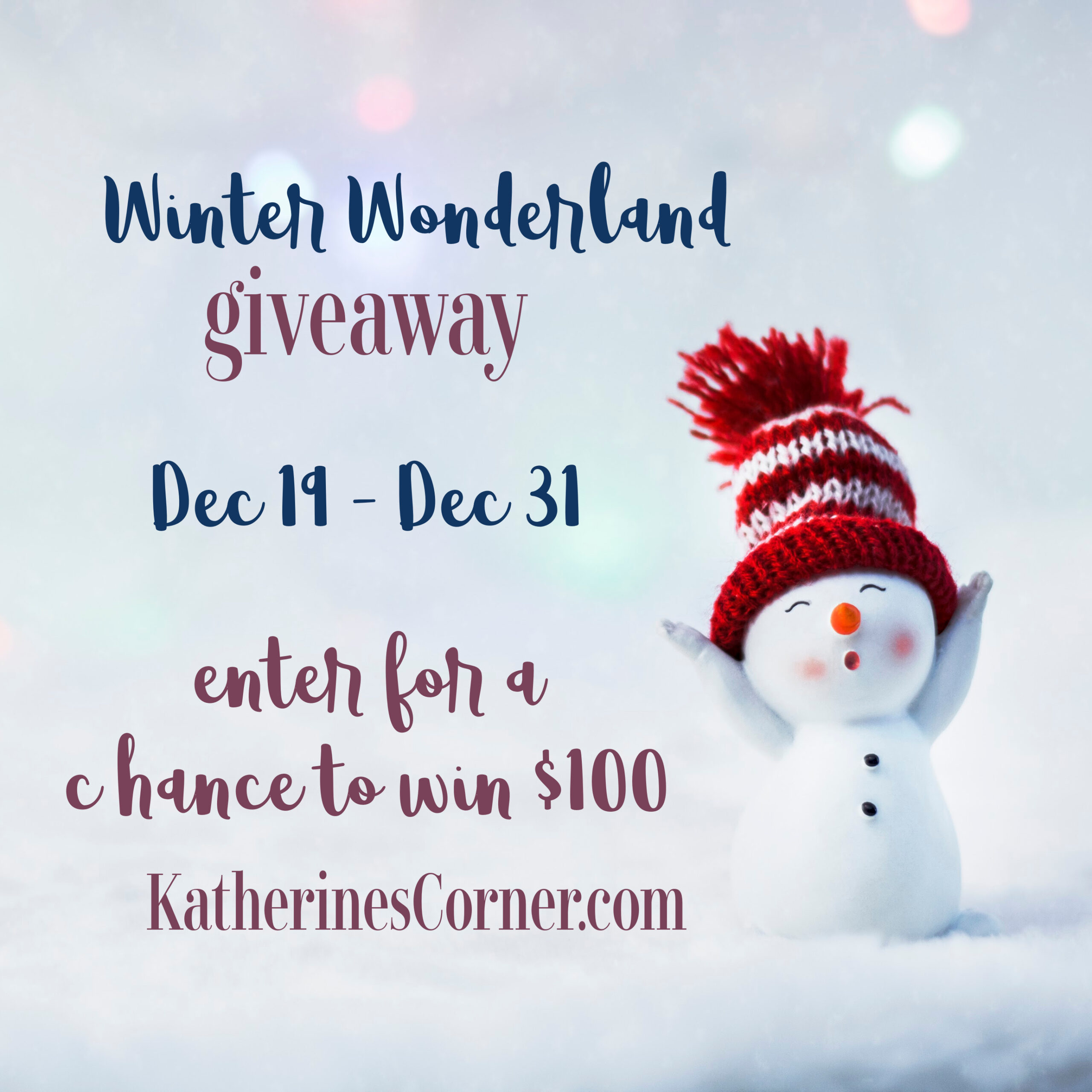 Winter Wonderland Giveaway
