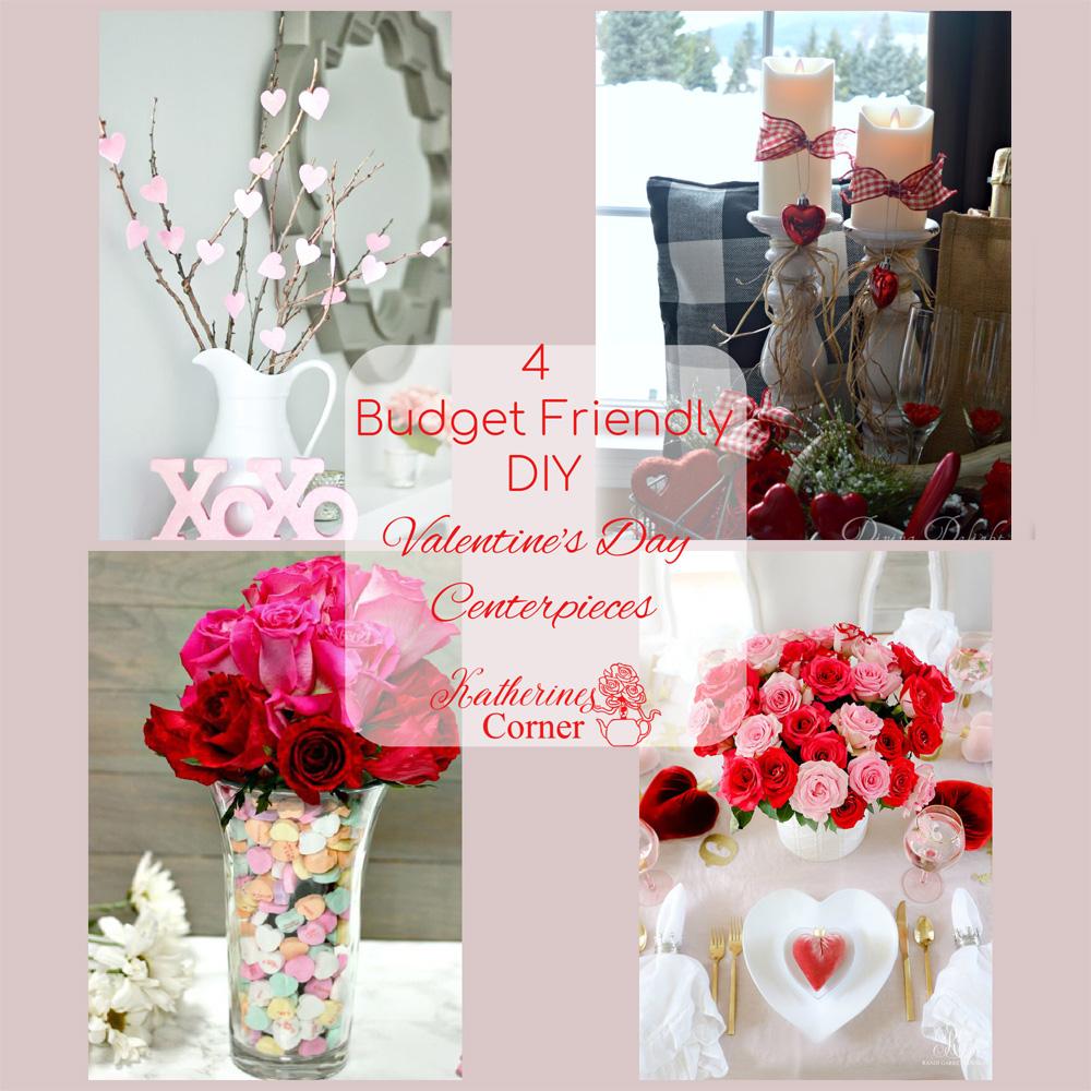 Budget Friendly Valentines Day DIY Centerpieces