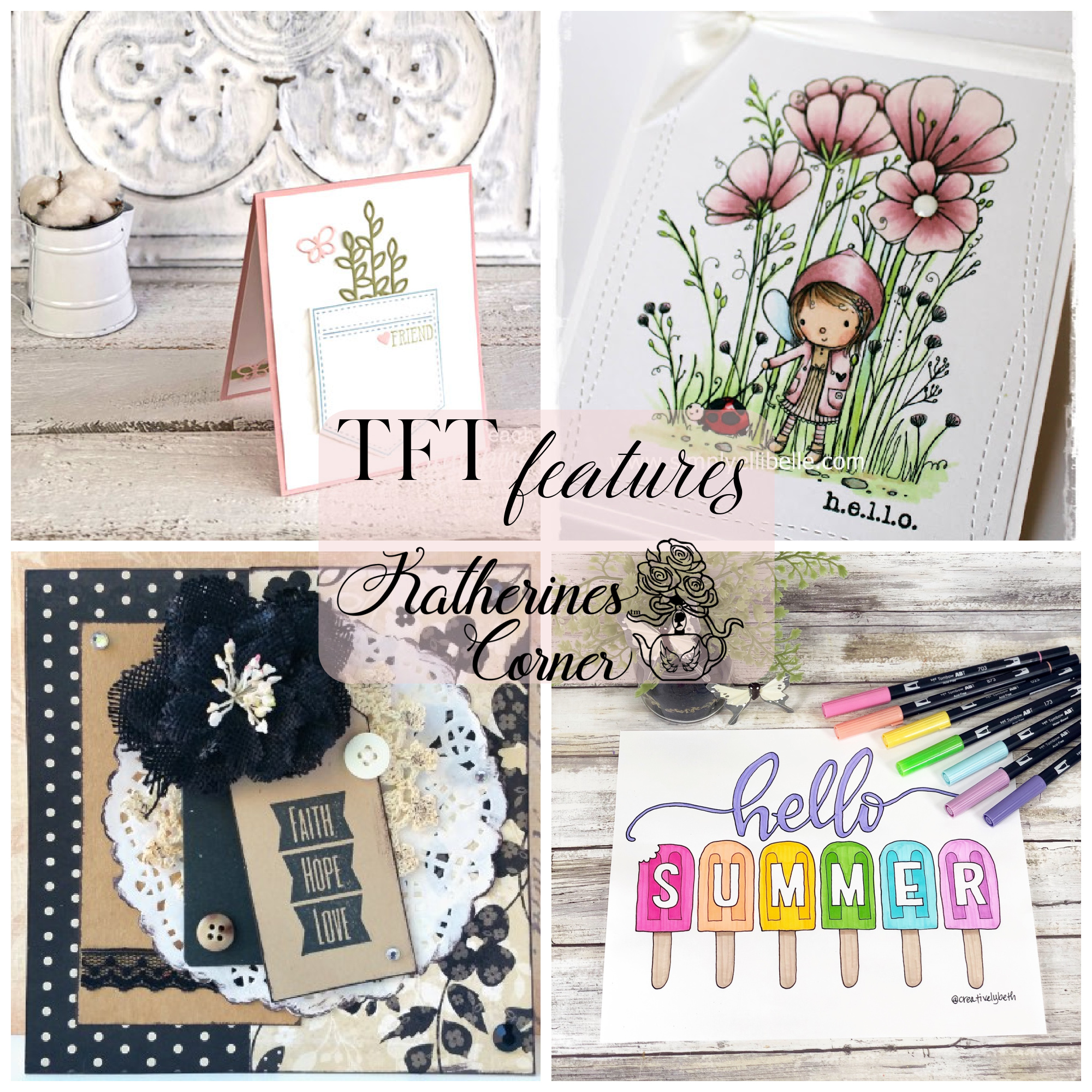 DIY Greeting Cards and TFT Blog Hop