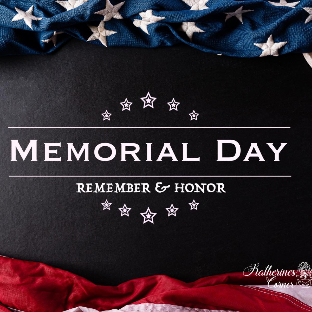 It's Memorial Day Weekend