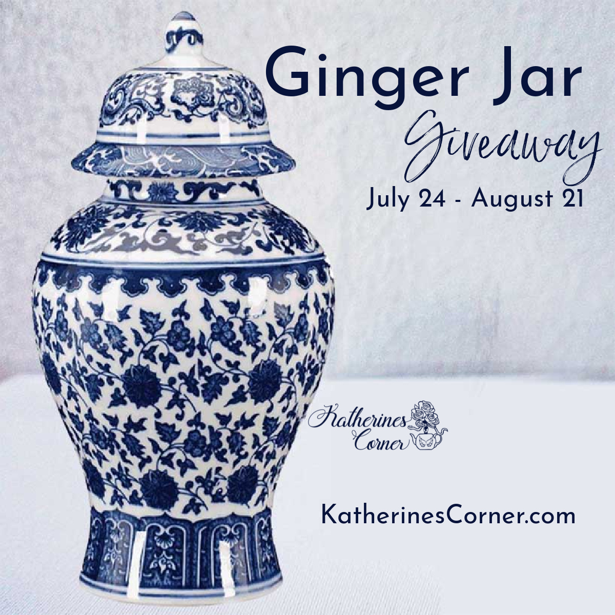 Blue and White Ginger Jar Giveaway