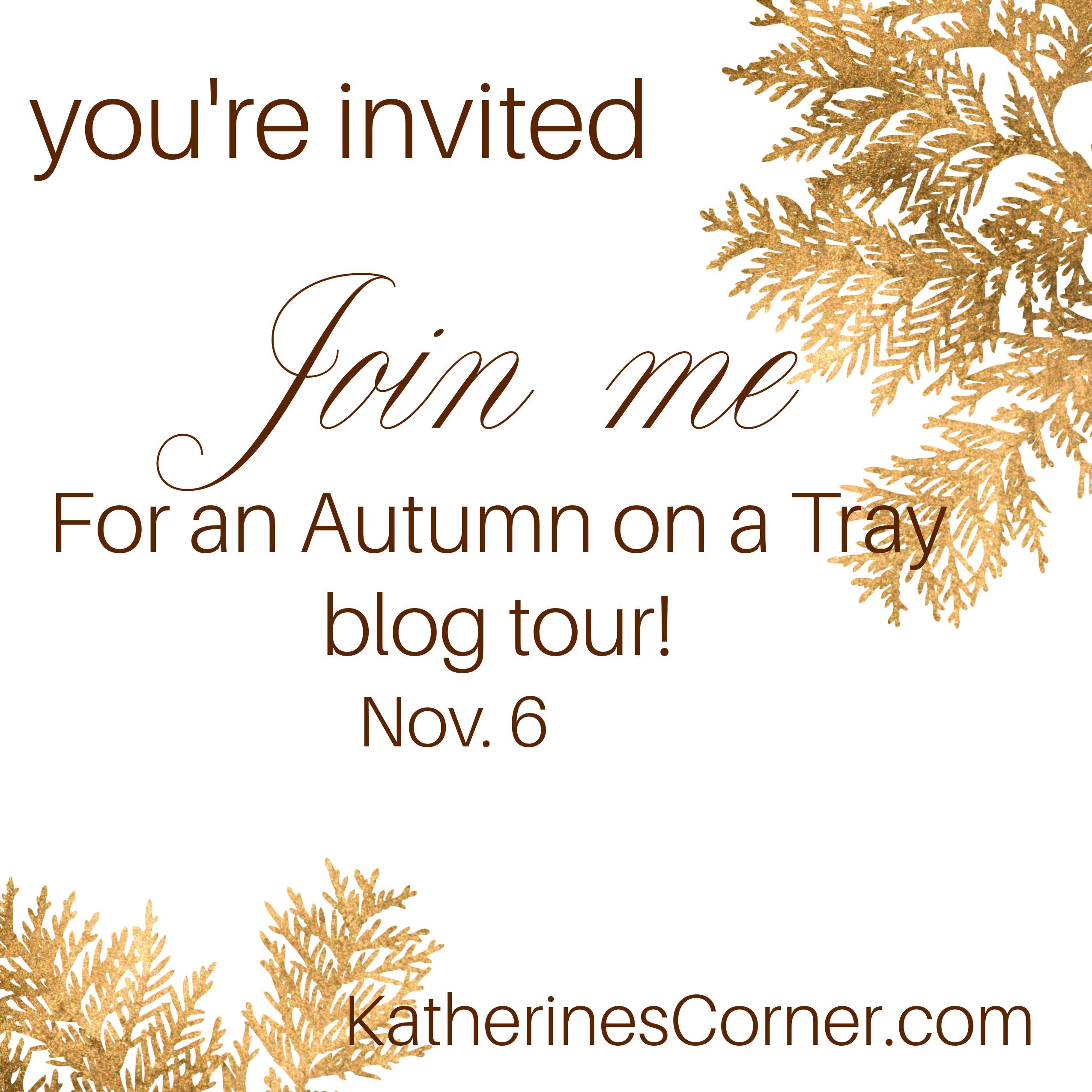Autumn Tray Blog Tour Invitation